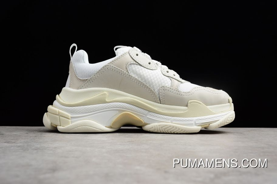 145450c839042e Mens And Womens Balenciaga Triple-S Sneaker Creme White Dad Shoes New Year  Deals