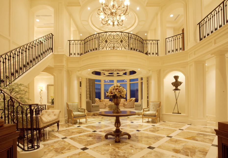 Image detail for beautiful straight staircase in florida for Luxury staircases