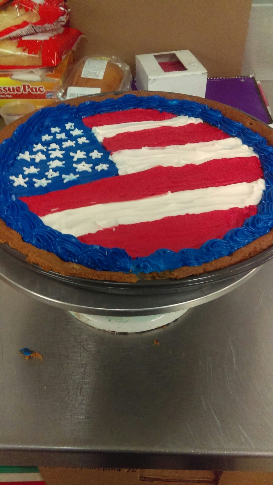 Usa Flag Birthday Cake Cakes I Made Pinterest Usa Flag