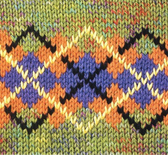 Jacquard Argyle Chart | knitting - Far Isle, Norwegian, etc ...