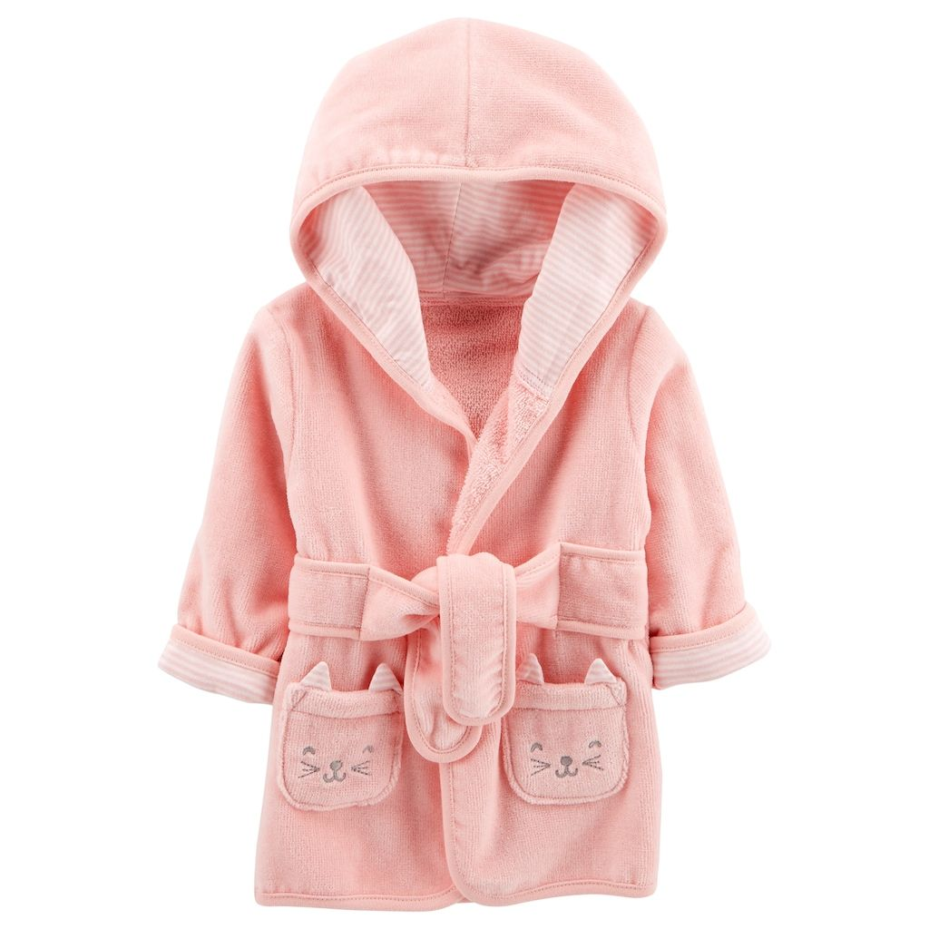 e72dd9daf6 Carter s Baby Girl Hooded Cat Robe