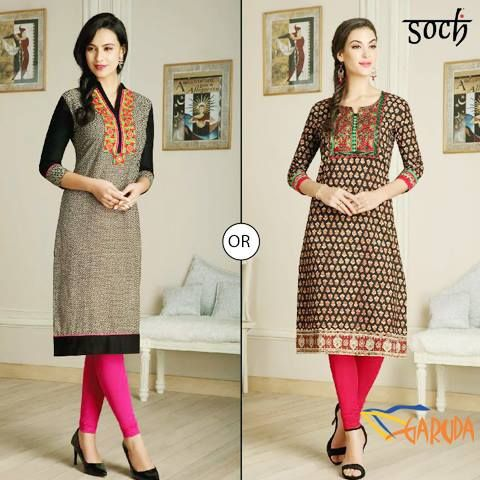 #Soch's latest collection of kurti suits, ready to stitch dress materials and saree  #Soch #garudamall