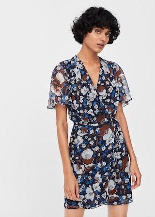 MANGO Print wrap dress Cheap Sale The Cheapest Footlocker For Sale Exclusive Cheap Online Best Sale Cheap Price Free Shipping Prices mkmm75RAHt