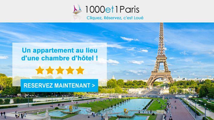 Un appartement au lieu d'une chambre d'hôtel ! Réservez Maintenant #location #vacances #paris #courte #duree #weekend #info #newsletter #design #ecommerce #web  http://www.milleetunparis.com/newsletters/client/appart-hotel-paris.htm