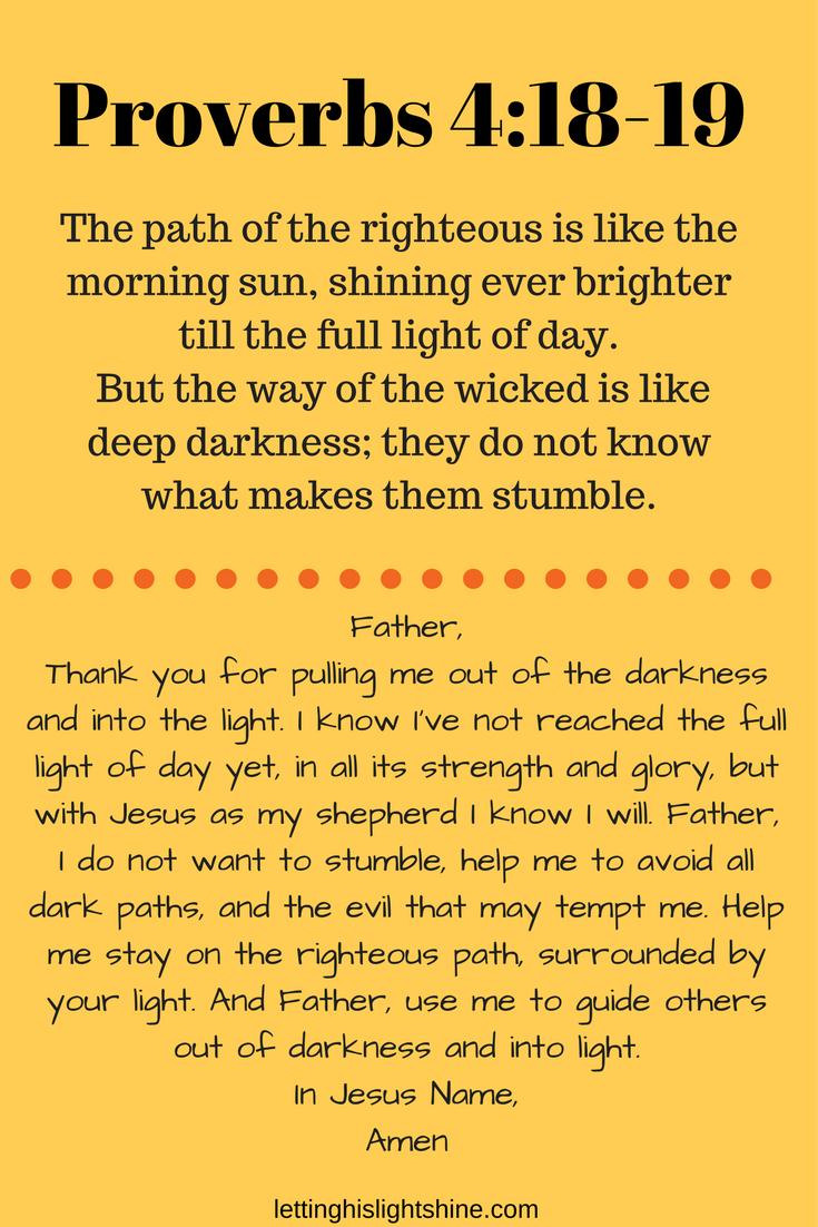 Proverbs 4:18-19