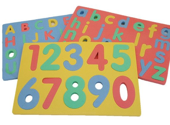 Set Of 3 Foam Puzzle Mats Numbers Capital For Toddlers By