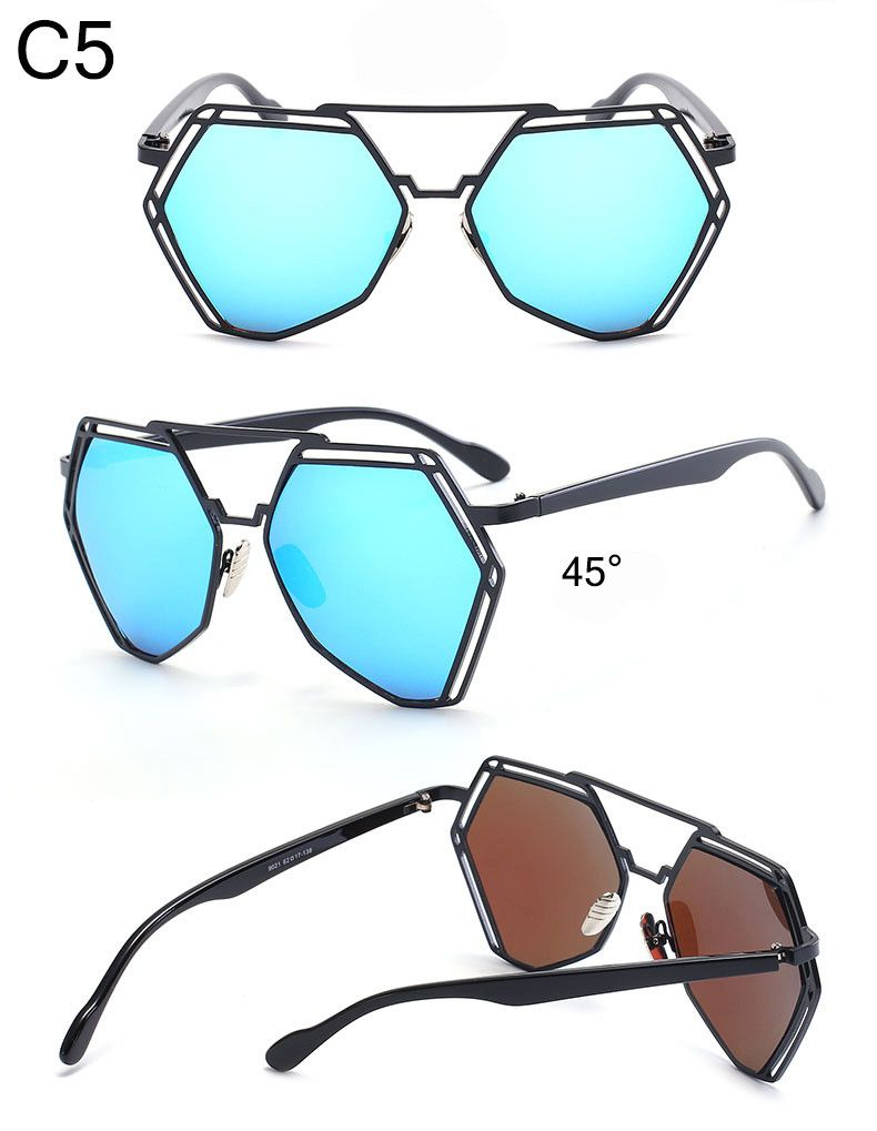 Aliexpress.com : Buy Summer 2016 Hexagonal Twin Beams Sunglasses ...