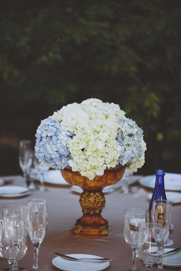 Elegant Wedding At The Villa Woodbine Floral Centerpieces