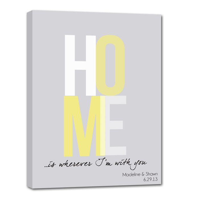 HOME is wherever i\'m with you canvas sign. | Handmade Gifts ...