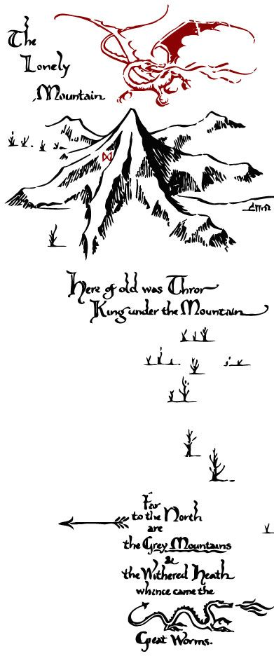 Tolkien's Thror Map. That would make a great chest/back tattoo