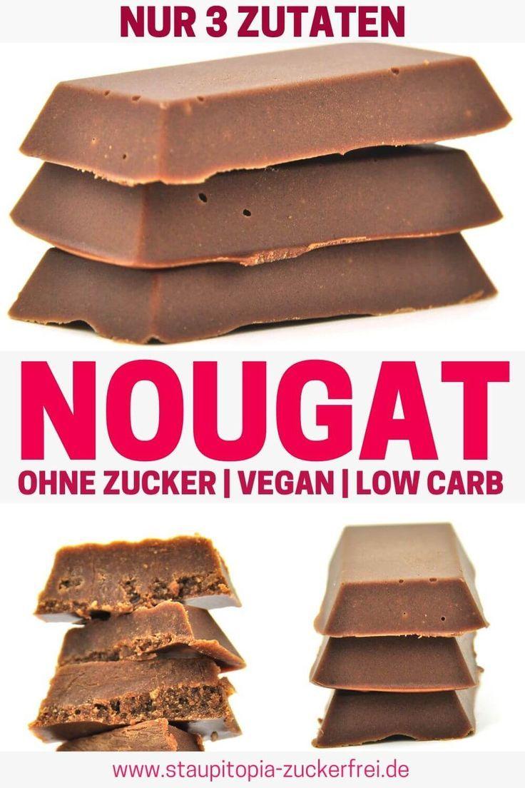 Nougat ohne Zucker schnell und einfach selber machen – Low Carb Desserts / Low Carb Nachtisch Rezepte