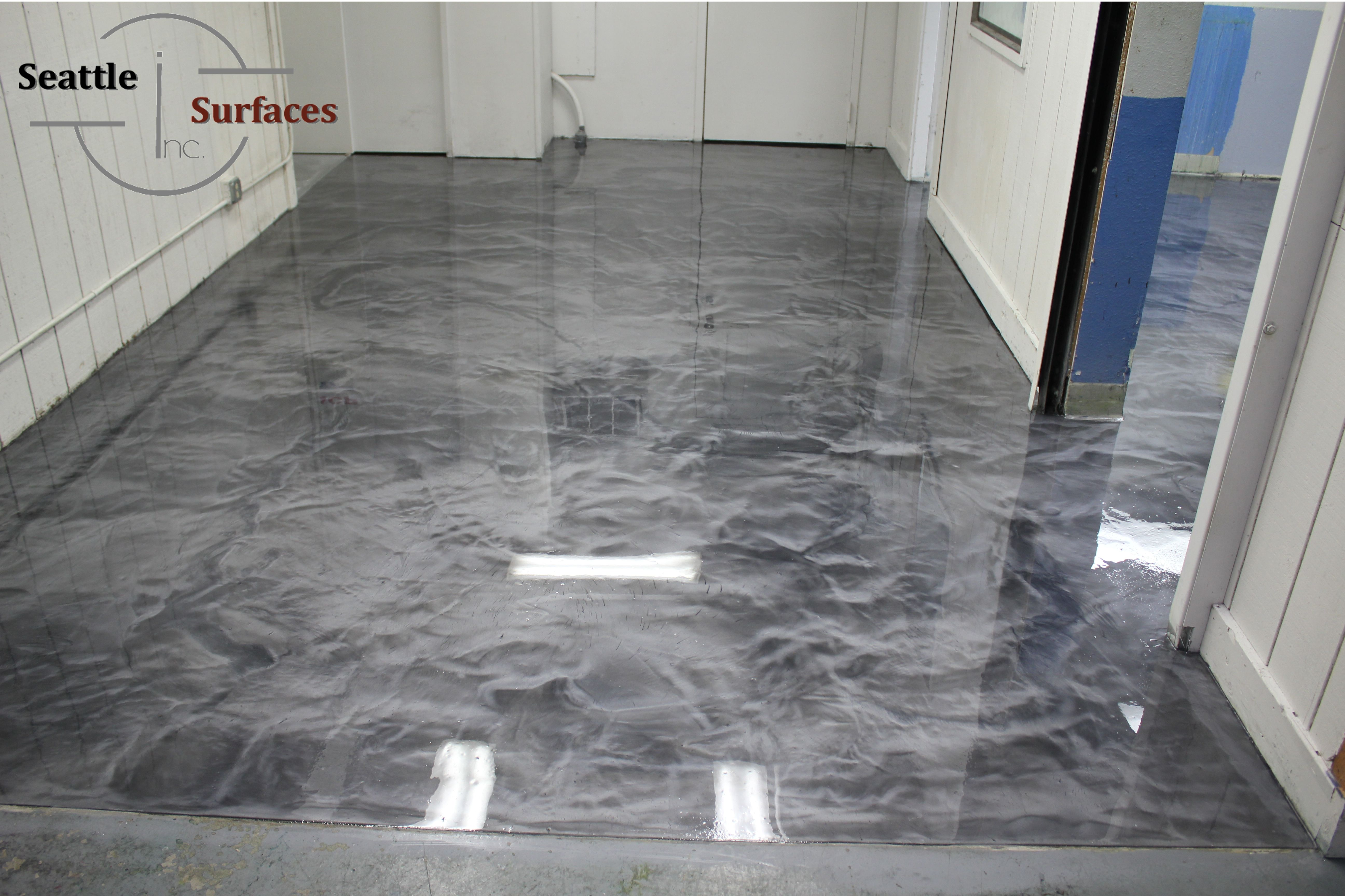 titanium Reflector Epoxy Floor Google Search Floor in