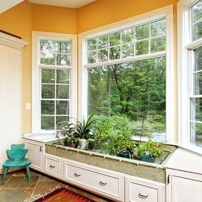 Creative Conversion Of A Bay Window Window Seat To An Indoor