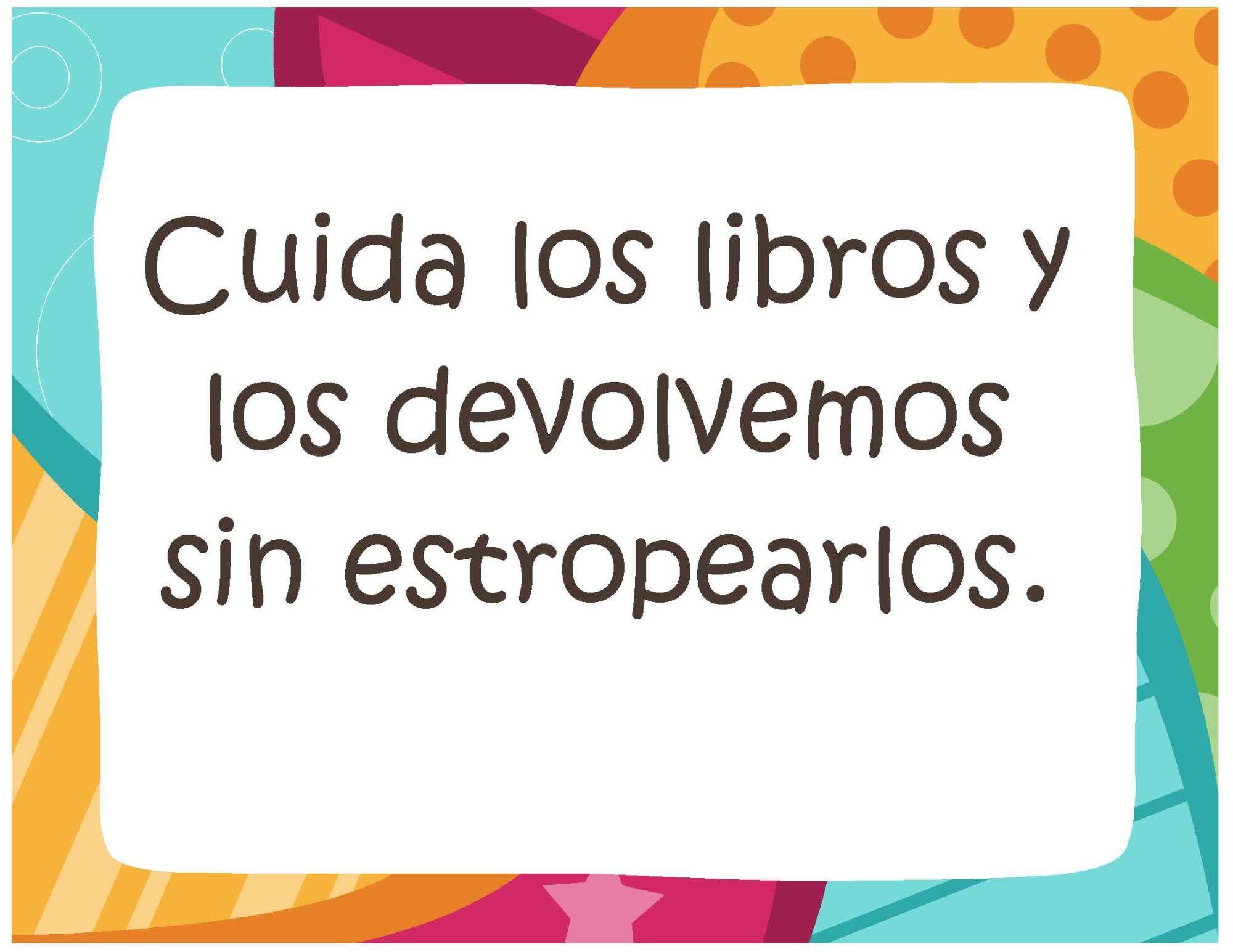 Reglas de biblioteca_Página_02 | lectura | Pinterest | Reglas de ...
