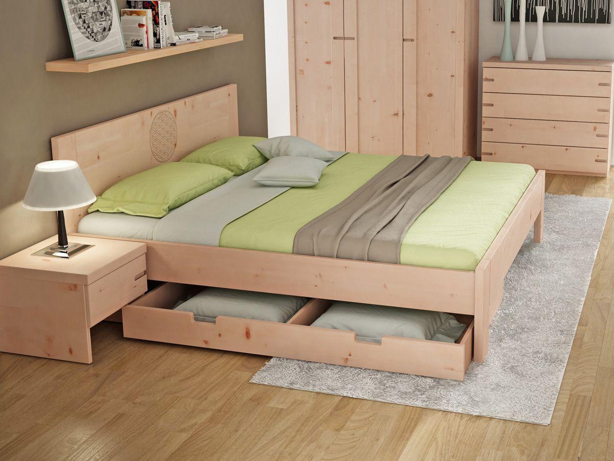 Bettkasten Unterbettkommode Sebastian Zirbe Bettwasche Modern Zirbenholz Bett Diy Plattform Bett