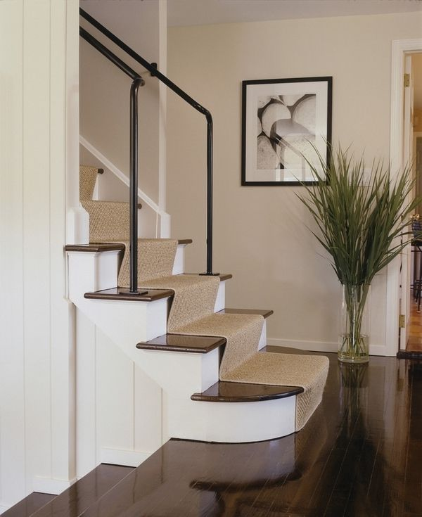 Put plants for decoration of hallway