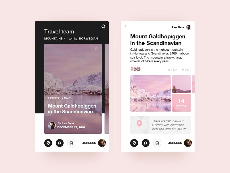 Travel App Card Views Mobile App Design Inspiration Travel App App Design Inspiration
