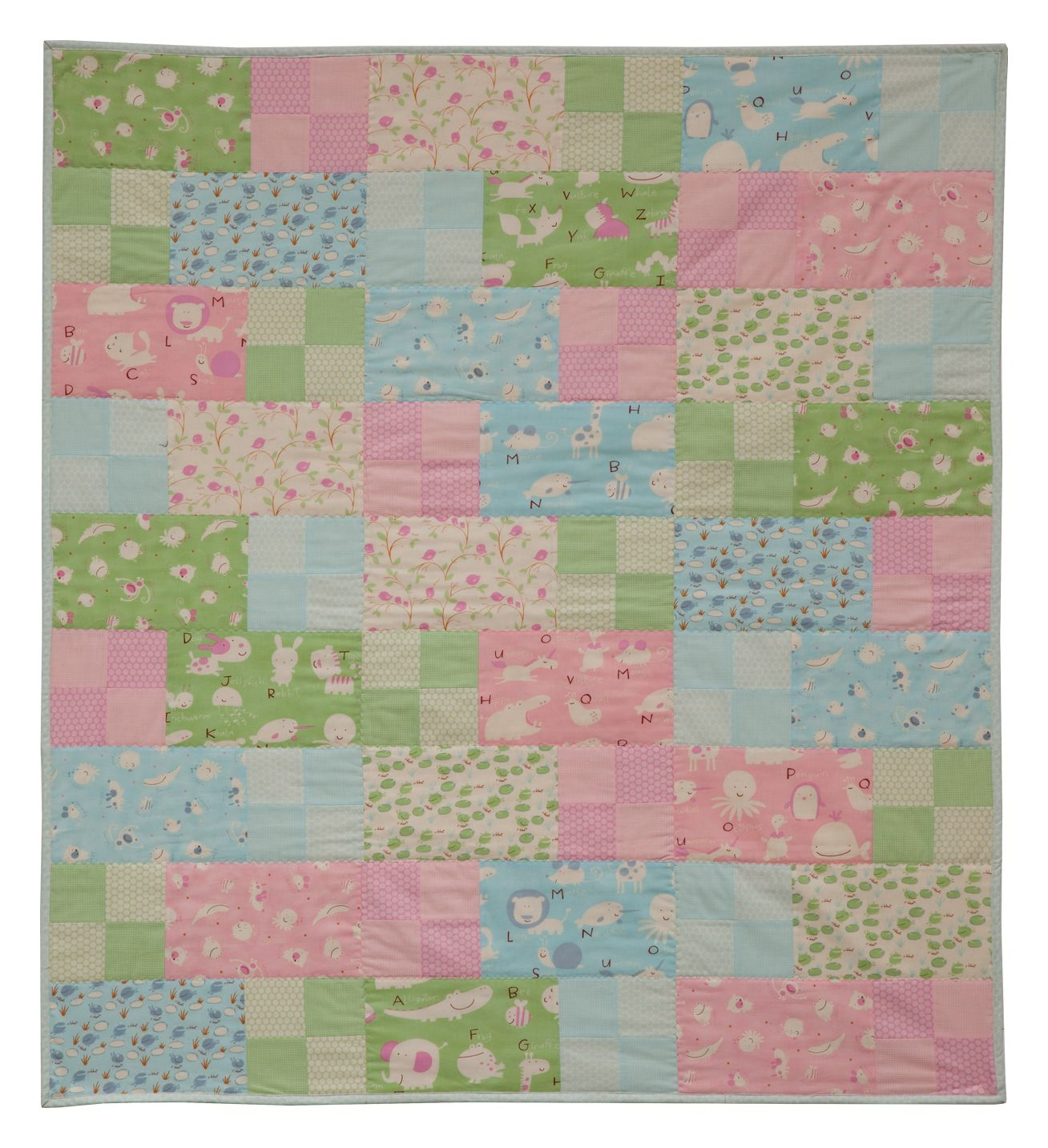 Free babies and childrens quilt patterns quilting for Childrens quilt fabric