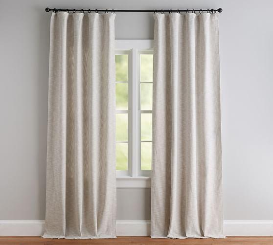 Seaton Textured Curtain Denim Neutral Curtains Curtain