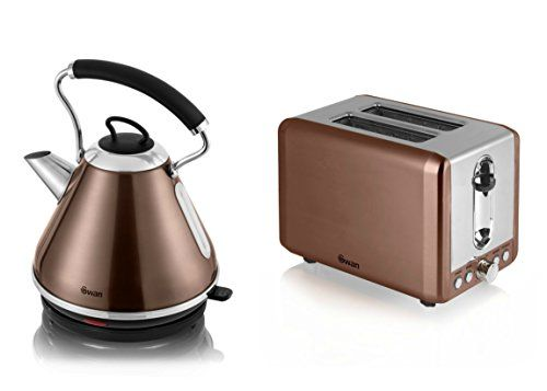 Swan Copper Twist Kettle and Toaster