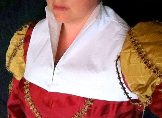 Tudor Elizabethan Flemish Partlet  Made to Order by SewHistorical, $37.00