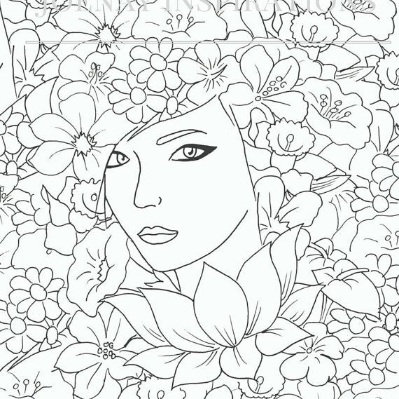 Faces of the World Adult Coloring Pages by Joenay Inspirations ...