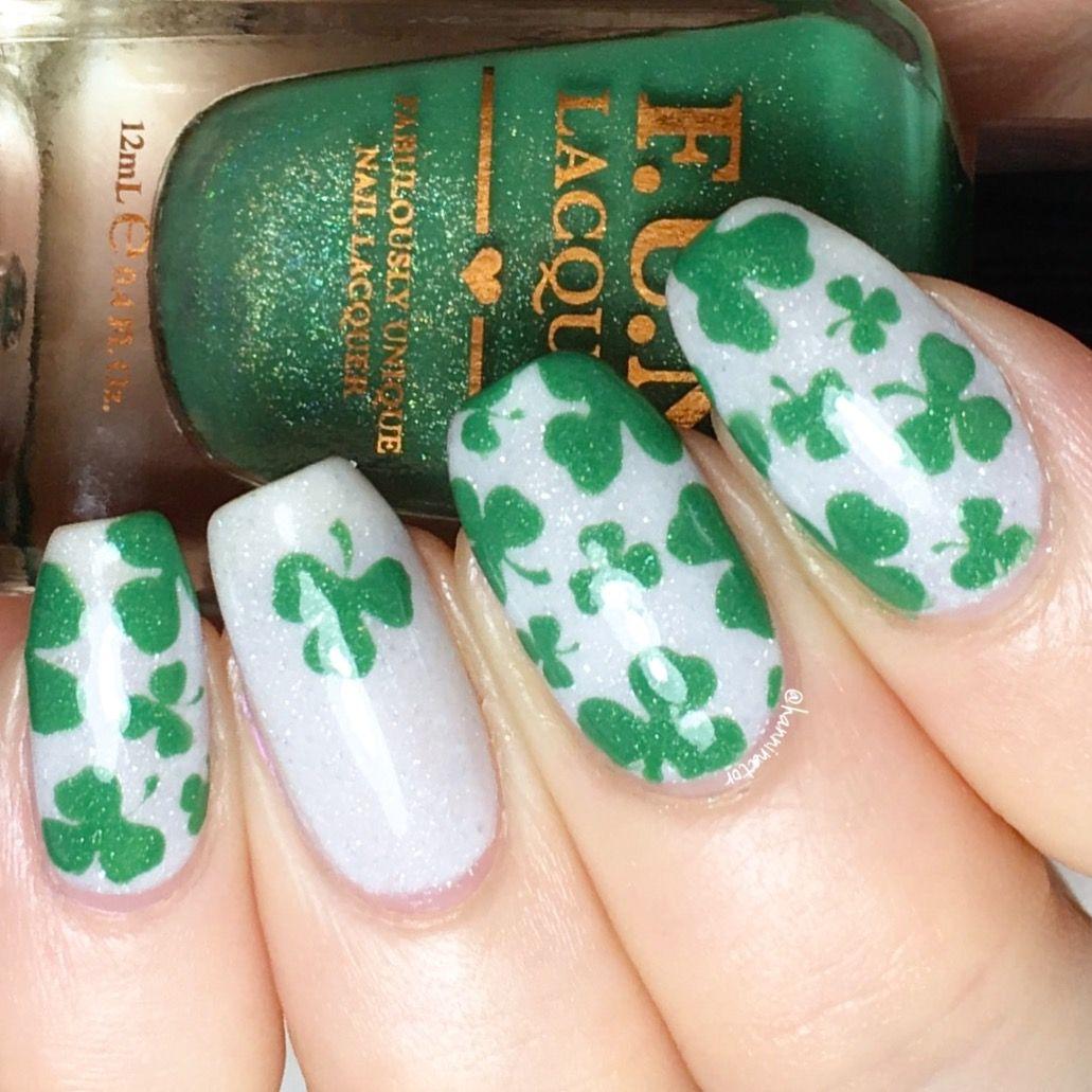Shamrock nails | My nail art | Pinterest