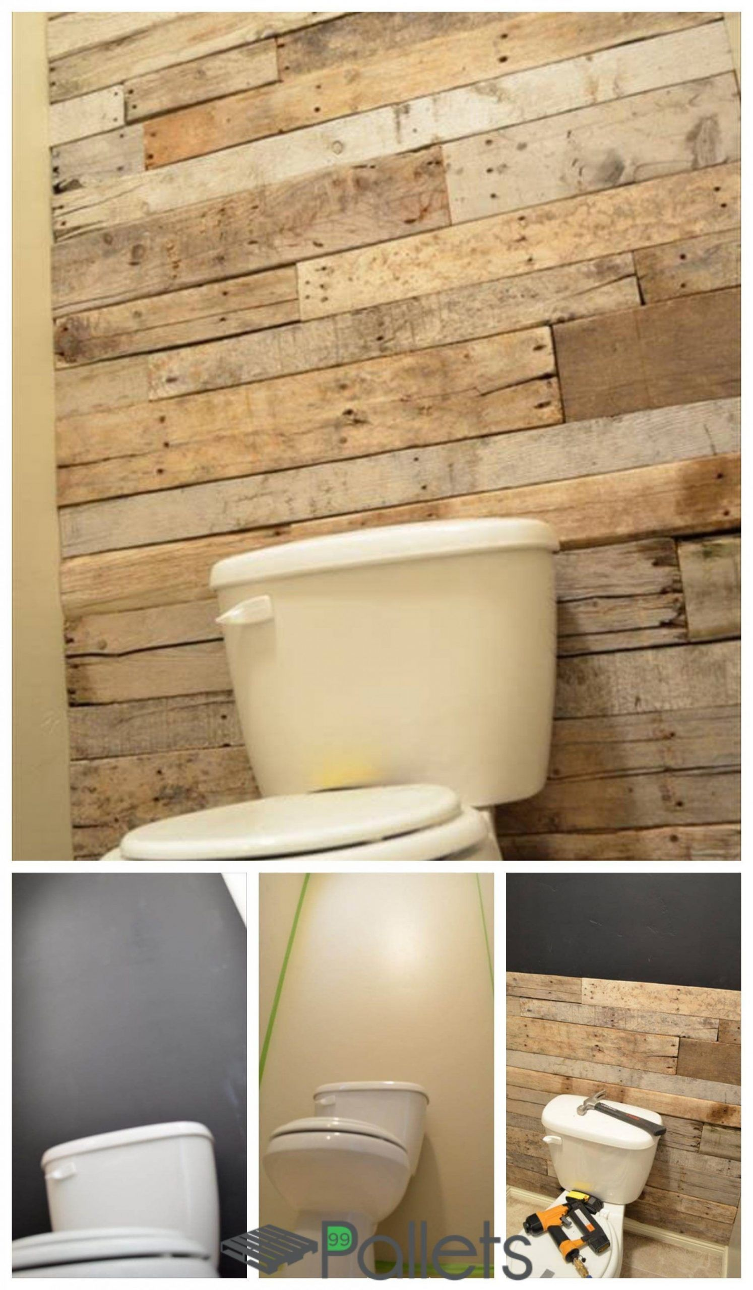 bathroom wall with pallet wood di 2020