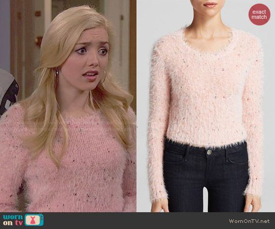 Emma's pink fluffy sweater on Jessie. Outfit Details: http ...