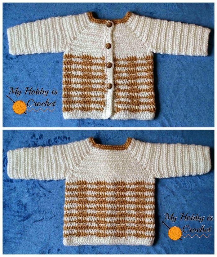 My Hobby Is Crochet: Crochet Unisex Baby Sweater \