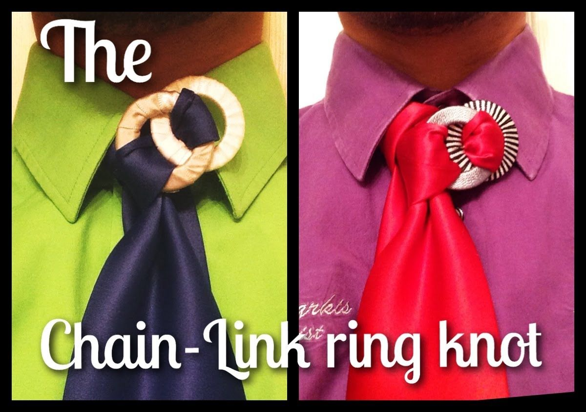 2d703963c964 How to tie a tie: The Chain Link Ring Knot - YouTube   Tie fashion ...