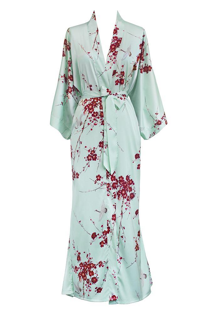 c466fcc4bf8b Cherry Blossom   Crane Kimono Robe