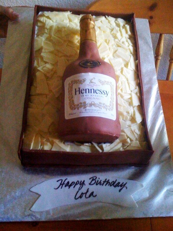 Hennessey Bottle Cake | Bottle cake, Liquor bottle cake ...