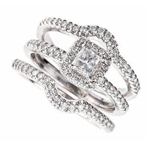 Princess Cut Engagement Rings Wedding Band Sets