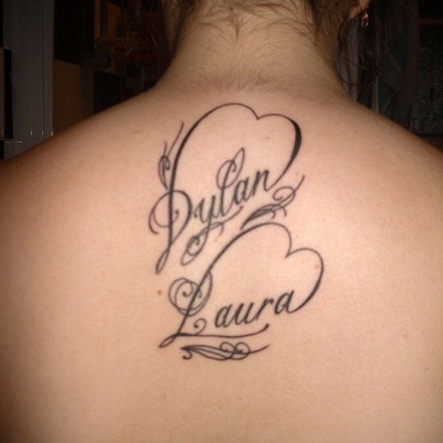 Tatouage de maman l 39 hommage de vanessa dylan et laura tatoos pinterest tatouage de - Calligraphie tatouage prenom ...