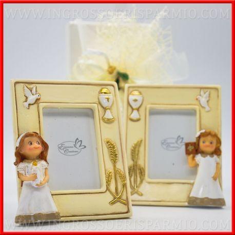 Cornici foto prima comunione bambina con calice originali