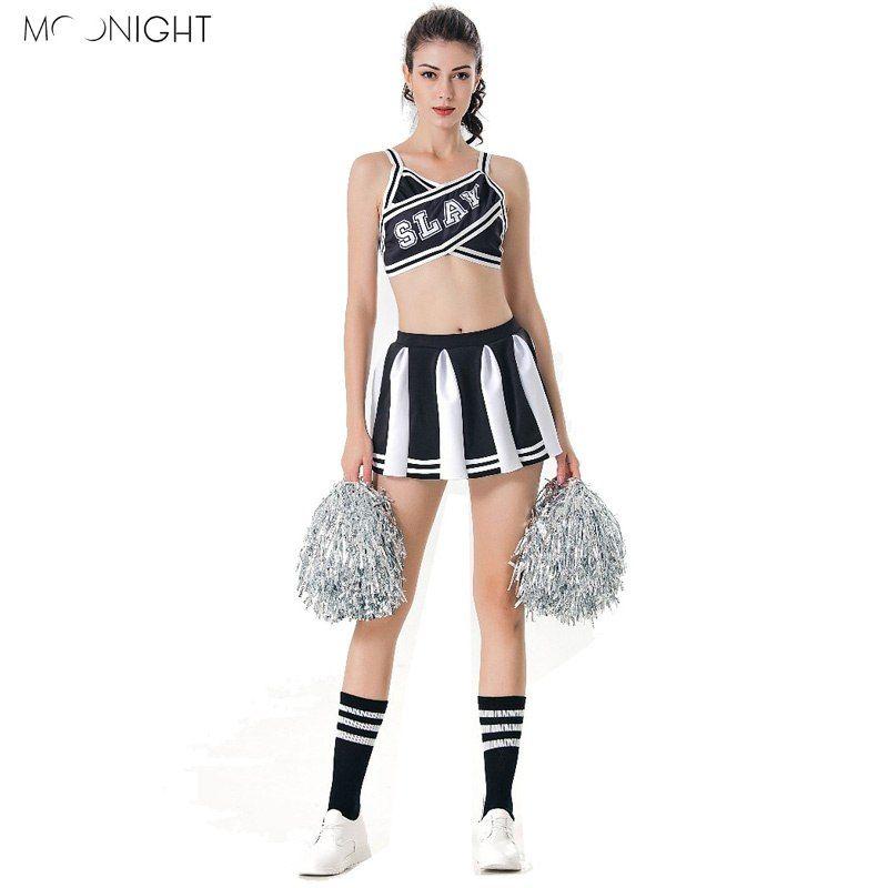 985909db36 MOONIGHT Sexy High School Cheerleader Costume Cheer Girls Uniform ...