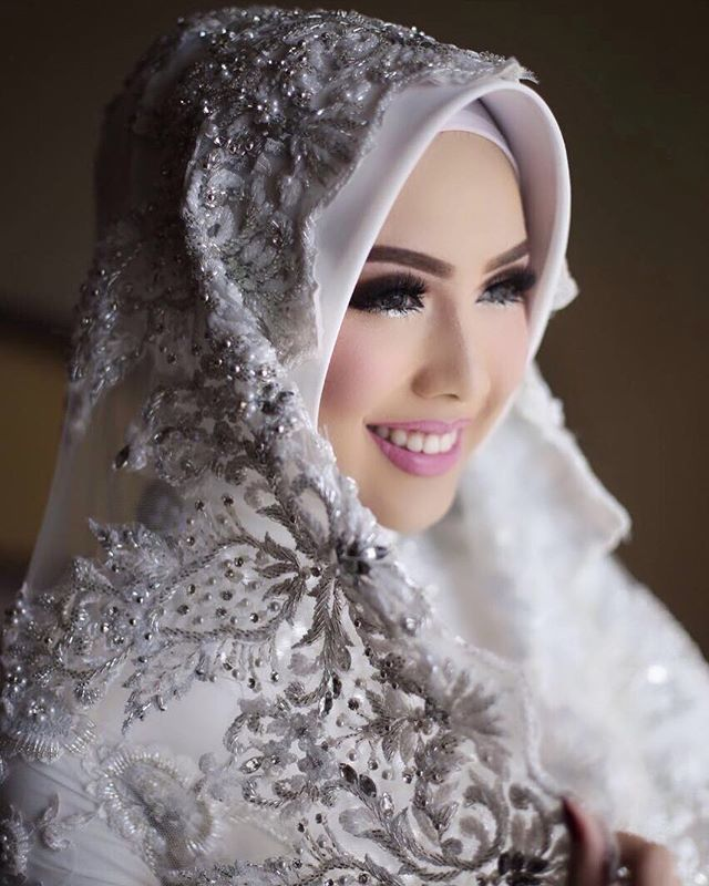Hijab Wedding Veil Muslim Brides Akad Nikah Makeup Wedding