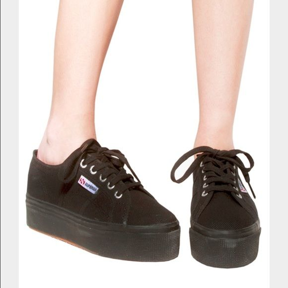 2d8131f5259ae Superga black platform sneakers 42 Superga new black platform sneakers! The  only