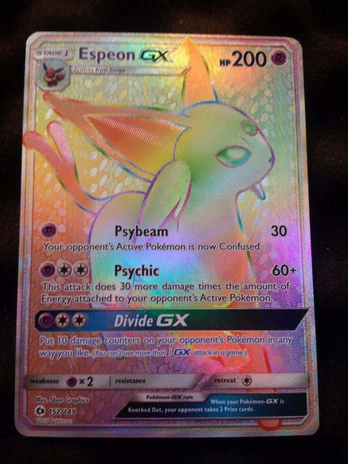 Espeon GX 152/149 Full Art Secret Rare Sun & Moon MINT Pokemon Card