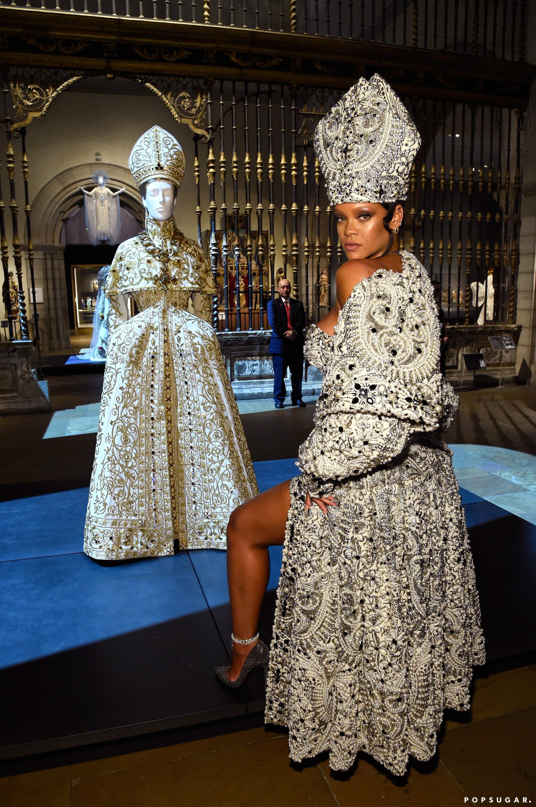 b25748966b7 Rihanna Literally Dressed Like the Pope at the Met Gala