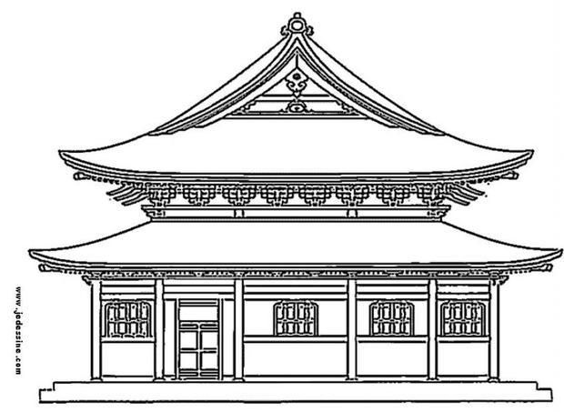 Japanese Castle Coloring Page With Images Japanese Castle