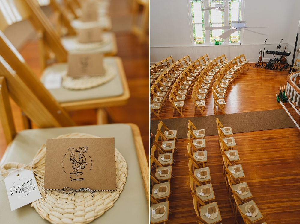 DIY wedding programs, White Chapel Palm Harbor ceremony