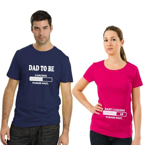 067f637f Dad to be Baby Loading Couple T-Shirt   Couple T-Shirts by TBhai.com ...