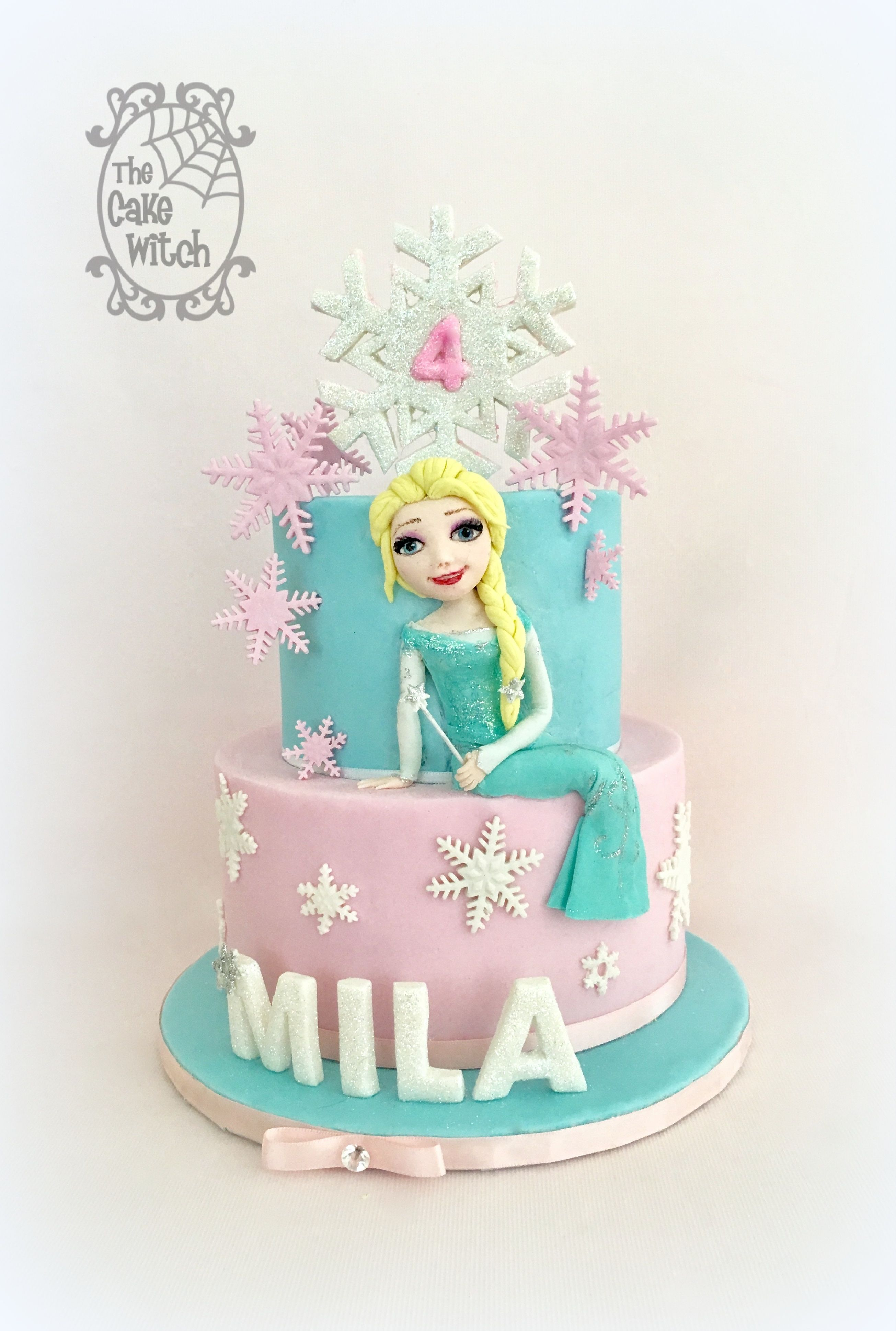 Frozen Elsa Pink Birthday Cake The Cake Witch My Birthday Cakes
