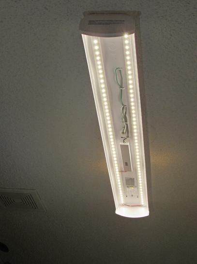 Commercial Electric 4 Ft White Led Wrap Ceiling Light