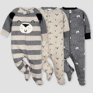 Gerber Baby Boys 3 Pack Sleep N Plays Size Newborn NEW Explorer Adorable