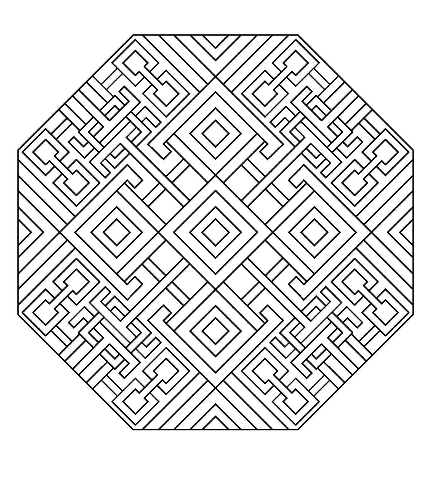 Art deco mandala   Mandalas   Pinterest   Mandalas, Arte geométrico ...