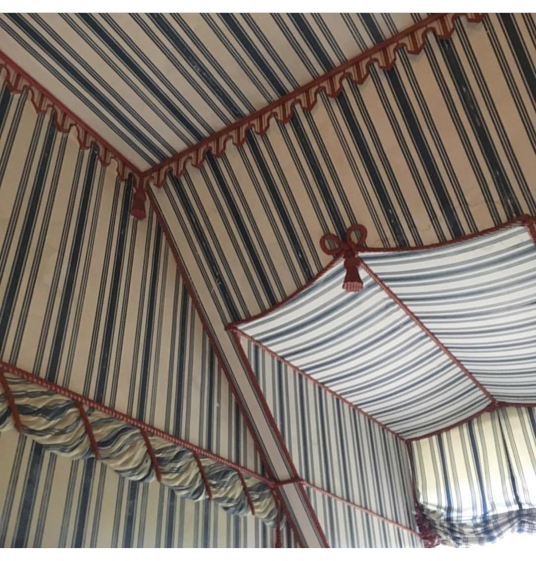 Painted Tented Room At Kingston Lacy Tent Bedroom Tent Room