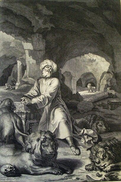 177. Daniel in the lion's den. Daniel cap 6 v 17. Picart